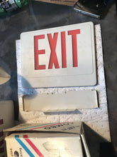 Load image into Gallery viewer, SKYU2RW Combo Exit Sign Skyline Lighting Red Letters Double Face White Housing