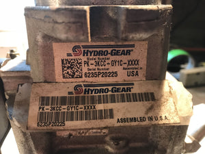 Sauer Hydro-Gear Pump PK-3KCC-GY1C-XXXX left side