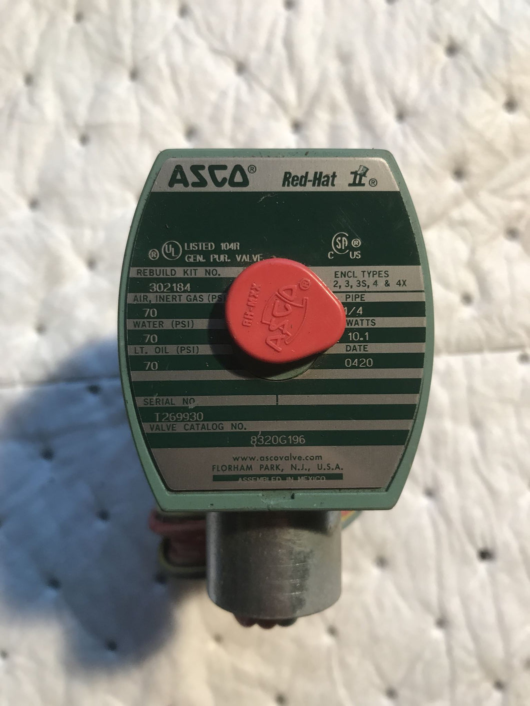 Asco Red Hat 8320G196 Valve