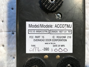 ACCOTMJ O1T6-390 Overhead Door TRANSMITTER 6-BUTTON
