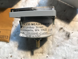 Shanando 250200HE Custom Process Measurement CO. Meter 4-20 mADC input, 0-50 ACA
