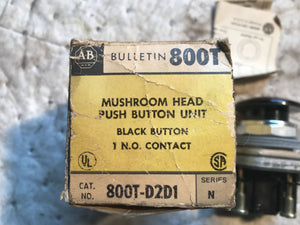 AB Bulletin Mushroom Head Push Button Unit 800T-D2D1 Series N