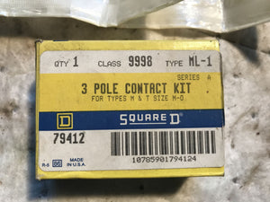 Square D 9998 ML-1 3 Pole contact Kit