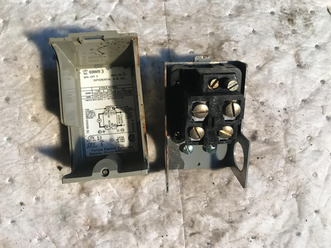 Furnas Electric Pressure Control 69WR 3  69WR3