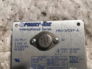 Power-One - HB5-3/OVP-AG Linear Power Supply, Open Frame, Fixed
