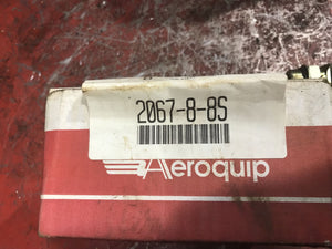 Hydraulic hose adapter  3/4-16,1/2-14, E ,1.39In EATON Aeroquip 2067-8-8S