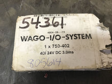 Load image into Gallery viewer, Wago Digital Input Module 750-402 #28700
