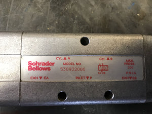 Parker Schrader Bellows 530932000 3/8 TRD MAN VALVE