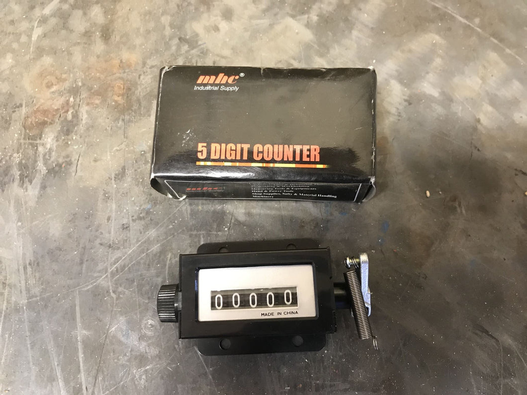 MHC 00208017 Ratchet Counter 5 digit with reset knob