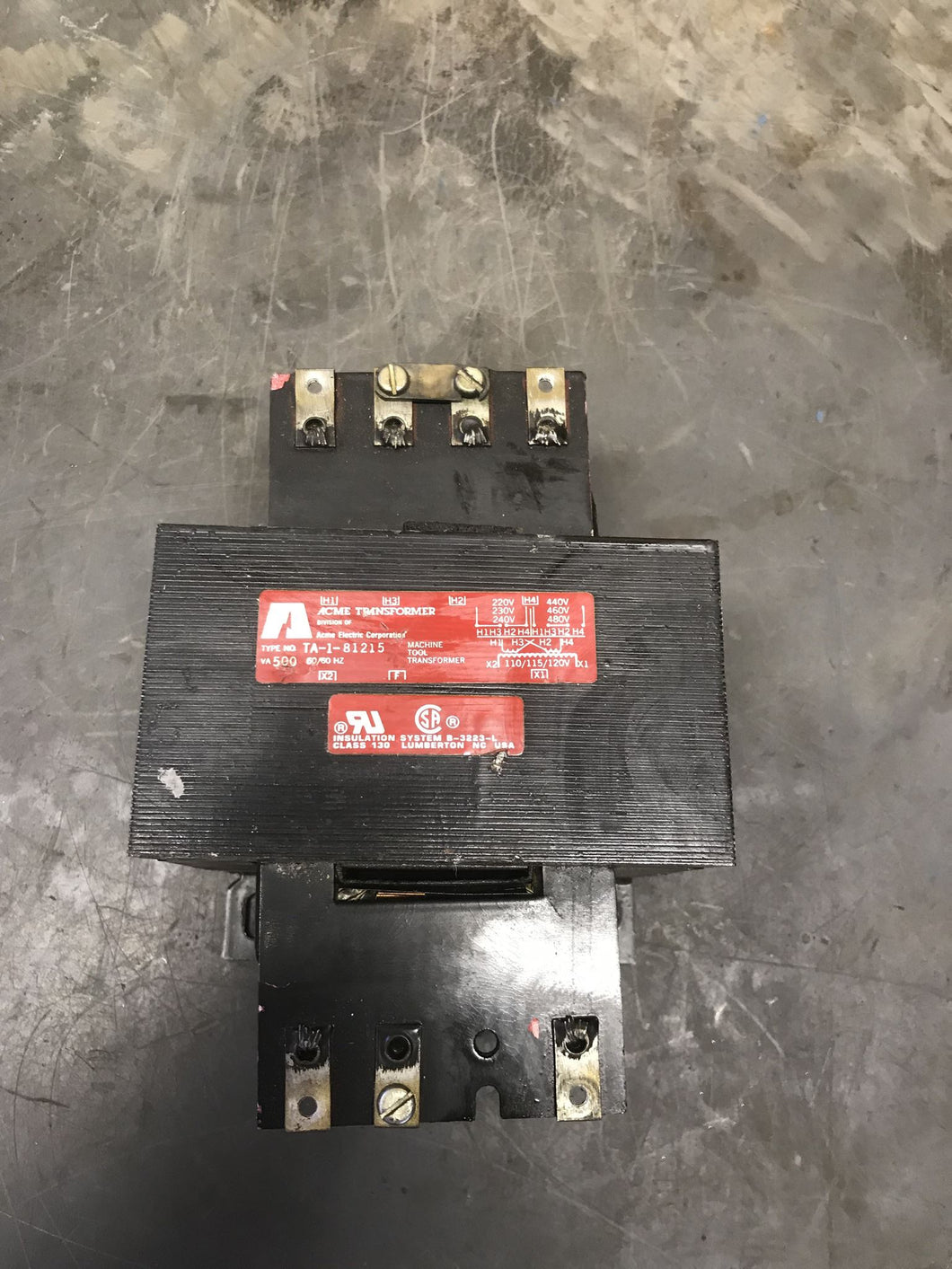 Acme Transformer TA-1-81215 Machine Tool Transformer