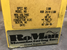 Load image into Gallery viewer, Roman Manufacturing Transformer RGR 24/4-1100