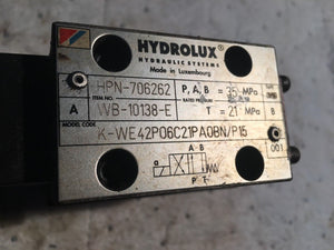 Hydrolux Valve 706262 wb-10138-e k-we42p06c21paobn/p15