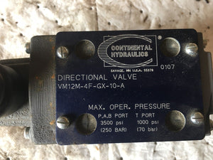 Continental Hydraulics Directional Valve VM12m-4F-GX-10-A used