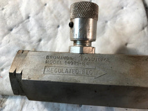 Bruning Accutrol Model 14921-B4 Hydraulic Control Valve