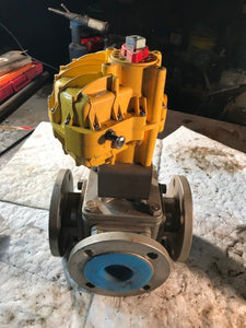 KINETROL GU9 9NU Actuator with MPF15-316 Ball Valve