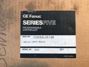GE Fanuc Series Five IC655ALG516B Analog Input Module IC655ALG516