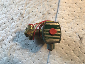 "1/4"" Asco Red-Hat 8300G058U Brass 3-Way Solenoid Valve 120V E12"