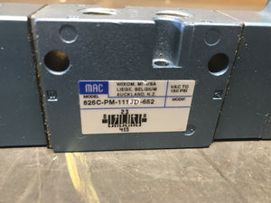 Mac Solenoid Valve 825C-PM-111JD-652 with PME-111JM