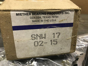 Miether Bearing Products SNW 17 02-15 Adapter Sleeve