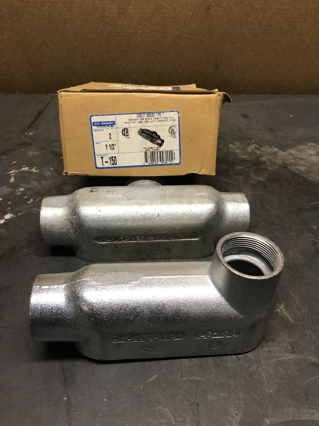 O-Z/Gedney Conduit Bodies Type T T-150 LB-150