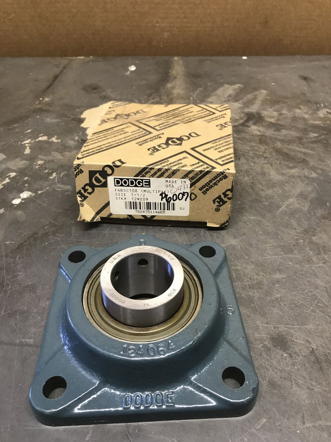 Dodge F4BSC108 1-1/2 124209 Flange-Mount Ball Bearing