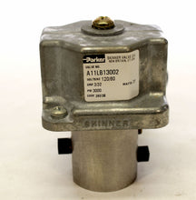 Load image into Gallery viewer, Parker A11LB13002 Skinner SOLENOID VALVE 120V 60HZ 3000PSI