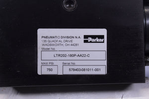 Parker LTR202-180P-AA22-C ROTARY ACTUATOR