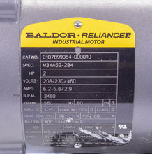 Load image into Gallery viewer, Baldor Electric Motor M34A62-284 0107899054-000010