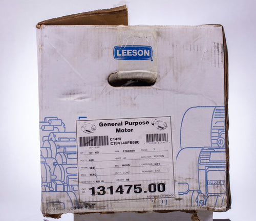 Leeson General Purpose Motor 131475.00 5 HP, 460 Volts, 6.5 Amps, 1740 RPM