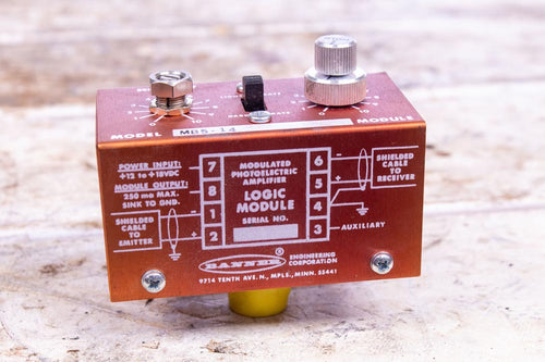 Banner Logic Module Modulated Photoelectric Amplifier MB5-14