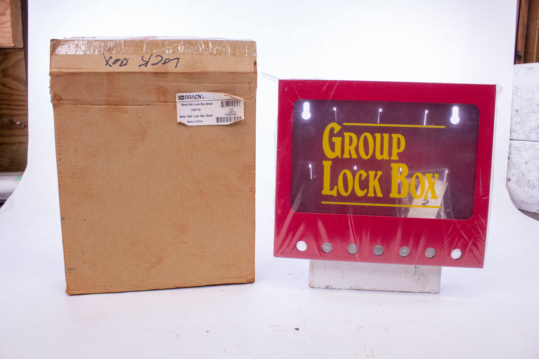 Brady Metal Wall Lock Box Small Red 105714 Y528300
