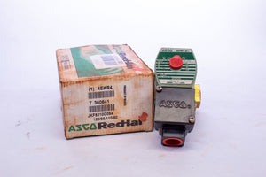 Asco Red Hat Valve JKF8210G094 120VAC Brass Solenoid Valve, Normally Closed, 1/2