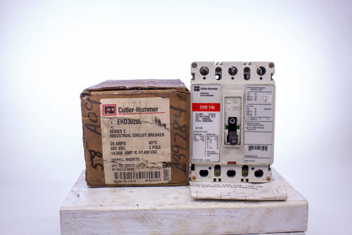 Eaton EHD3020L Series C Industrial Circuit Breaker 3 Pole 20 Amps 480 VAC