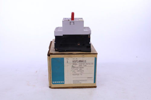 Siemens MSP10NA11 Manual Starter Protector Open Type
