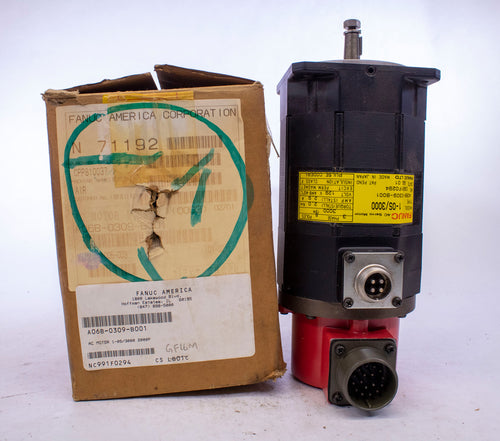 Fanuc A06B-0309-B001 AC Motor 1-OS/3000 with 2000P A290-0521-V541 Pulse Coder