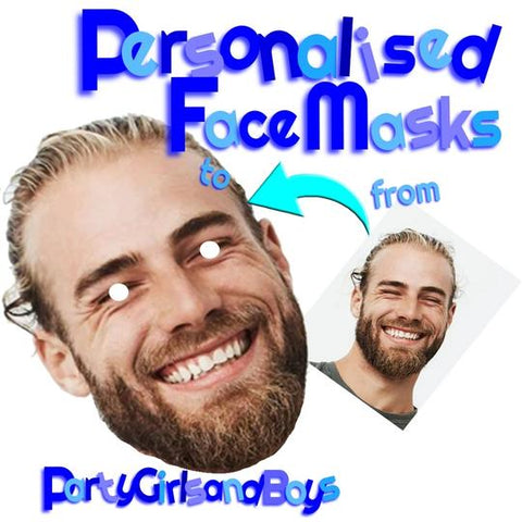 10 x Personalised Photo Face Mask Kit DIY or READY TO WEAR stag hen night party