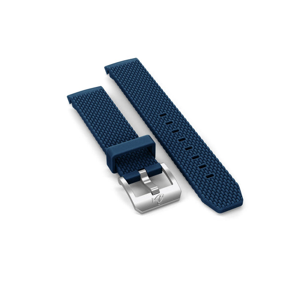 Rubber strap with buckle, Navy blue - DOXA Watches US