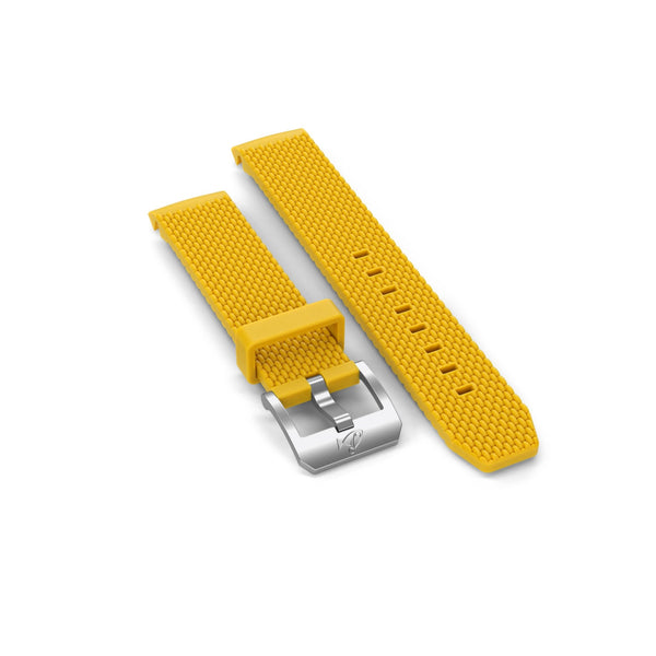 Rubber strap with buckle, Yellow - DOXA Watches US