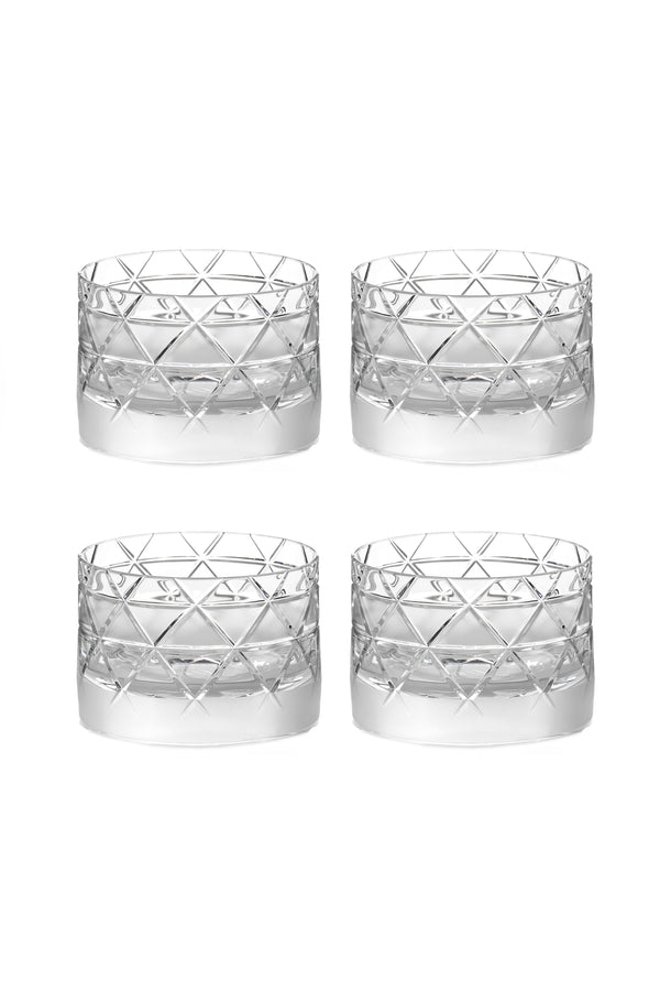 Low Glass V (Set of 4)