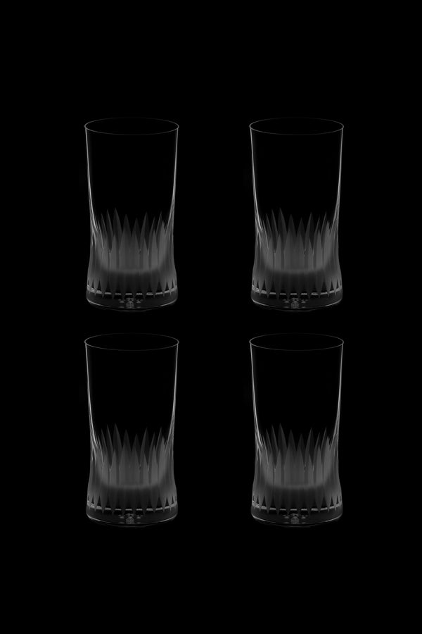 Large Tumbler Glass V (Set of 4)