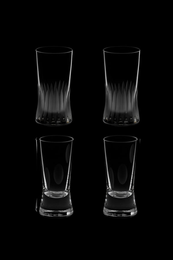 Small Glass V & VI (Set of 4)