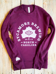 NEW! Sycamore Brewing Crewneck Sweatshirt - Maroon