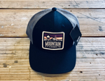 Mountain Candy Trucker Hat - Black and Grey