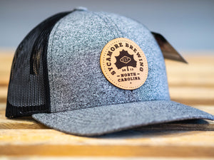 NEW! Sycamore Brewing Trucker Hat- Heather Grey w/ Black