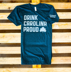 NEW! Drink Carolina Proud Tee- Black Aqua and Grey