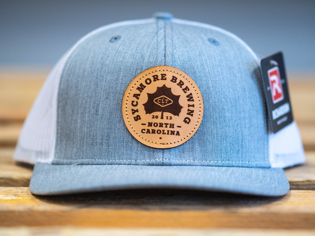 NEW! Sycamore Brewing Trucker Hat- Heather Grey and White