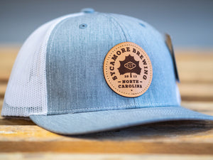 Sycamore Brewing Trucker Hat- Heather Grey and White