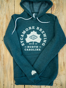 NEW! Sycamore Brewing Hooded Sweatshirt-Heather Green