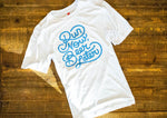 Run Club Running Shirt- White and Blue