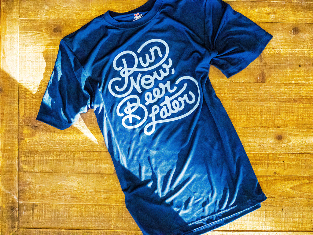Run Club Running Shirt- Navy